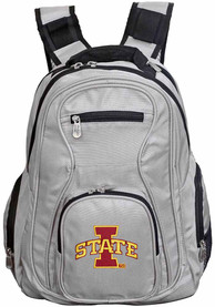 Iowa State Cyclones 19 Laptop Backpack - Grey
