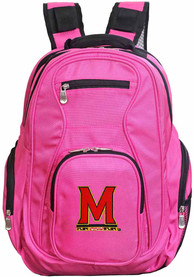Maryland Terrapins 19 Laptop Backpack - Pink