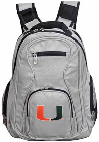 Miami Hurricanes 19 Laptop Backpack - Grey