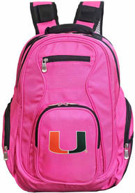Miami Hurricanes 19 Laptop Backpack - Pink