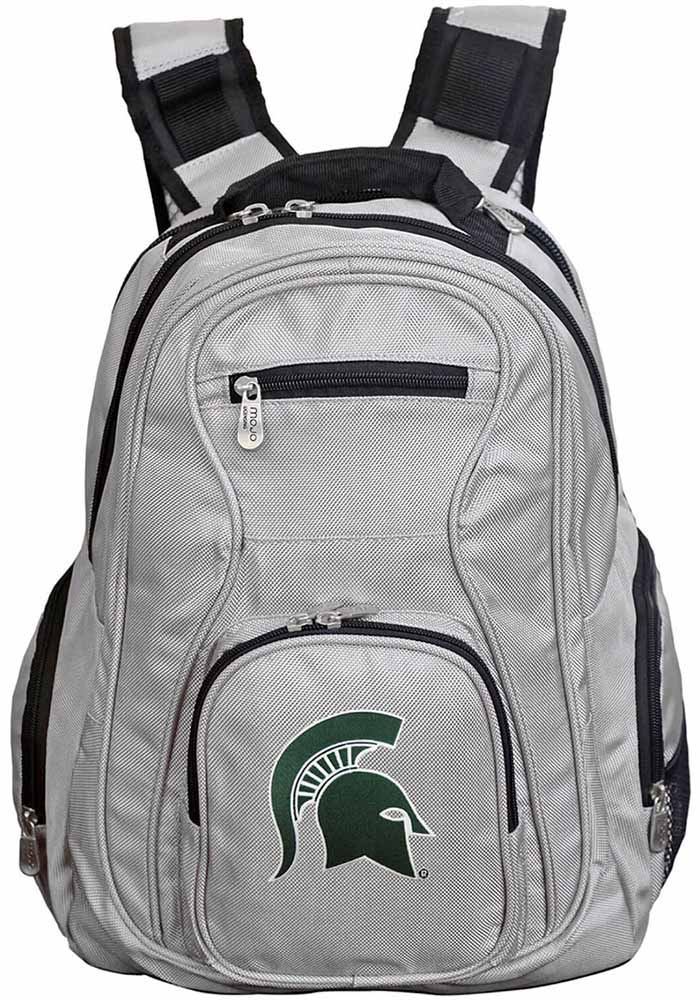 Michigan State Spartans Grey 19 Laptop Backpack - Image 1