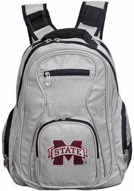 Mississippi State Bulldogs 19 Laptop Backpack - Grey