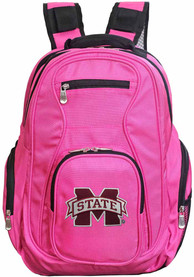 Mississippi State Bulldogs 19 Laptop Backpack - Pink