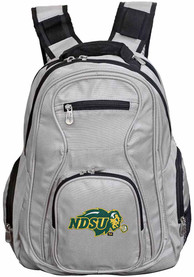 North Dakota State Bison 19 Laptop Backpack - Grey