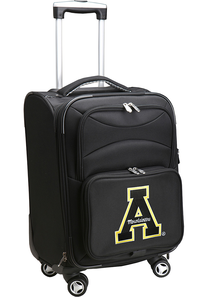 Appalachian State Mountaineers 20 Softsided Spinner Luggage - Black