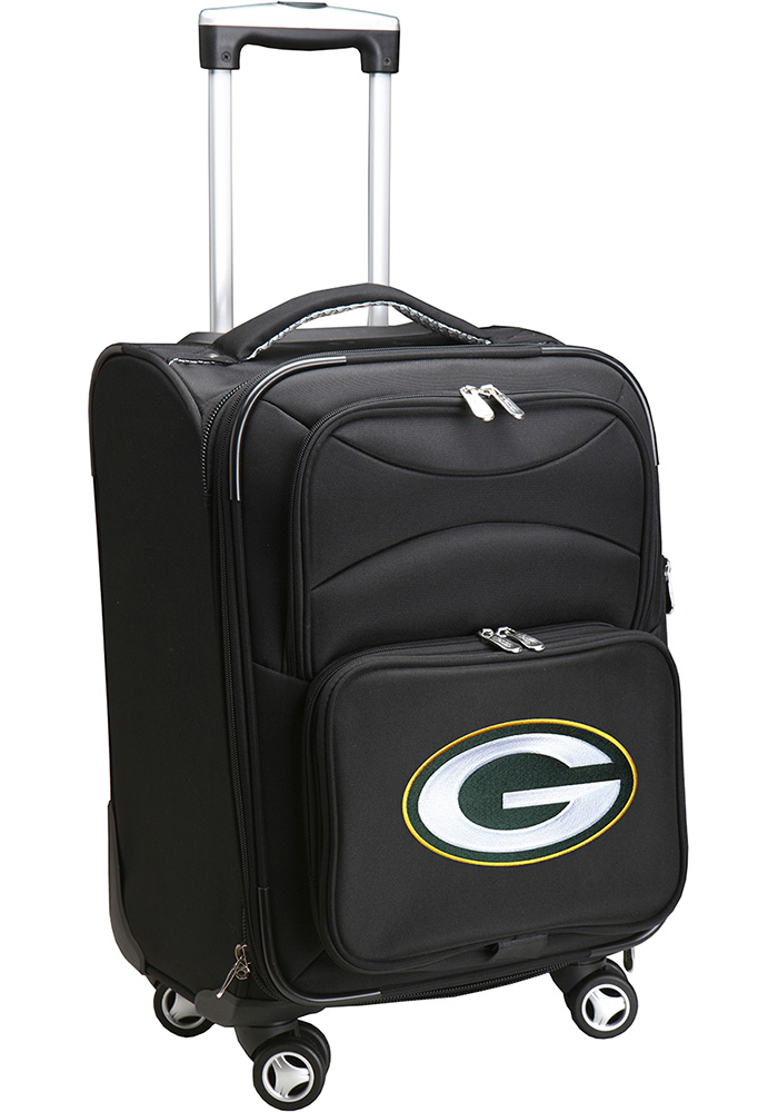 Green Bay Packers Black 20 Softsided Spinner Luggage - Image 1