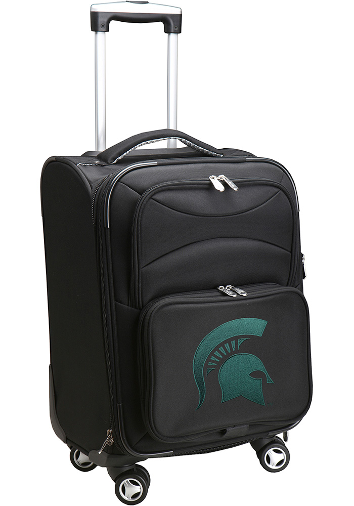 Michigan State Spartans Black 20 Softsided Spinner Luggage - Image 1