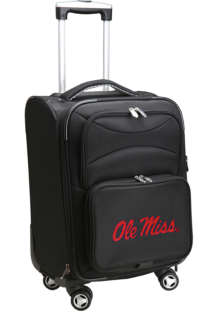 Ole Miss Rebels Black 20g Softsided Spinner Luggage - Image 1