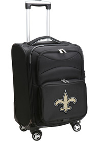 New Orleans Saints 20 Softsided Spinner Luggage - Black
