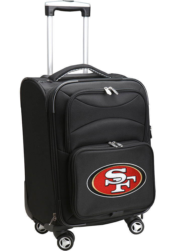 San Francisco 49ers Black 20 Softsided Spinner Luggage - Image 1