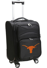 Texas Longhorns 20 Softsided Spinner Luggage - Black