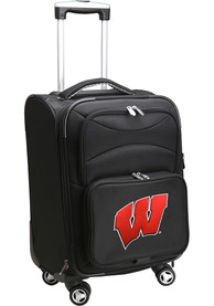 Wisconsin Badgers 20 Softsided Spinner Luggage - Black