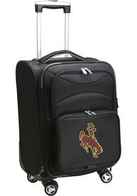 Wyoming Cowboys 20 Softsided Spinner Luggage - Black