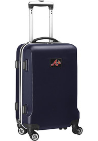 Atlanta Braves 20 Hard Shell Carry On Luggage - Navy Blue