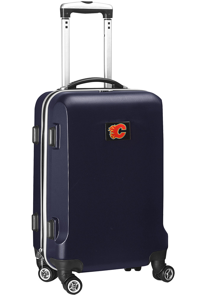 Calgary Flames 20 Hard Shell Carry On Luggage - Navy Blue