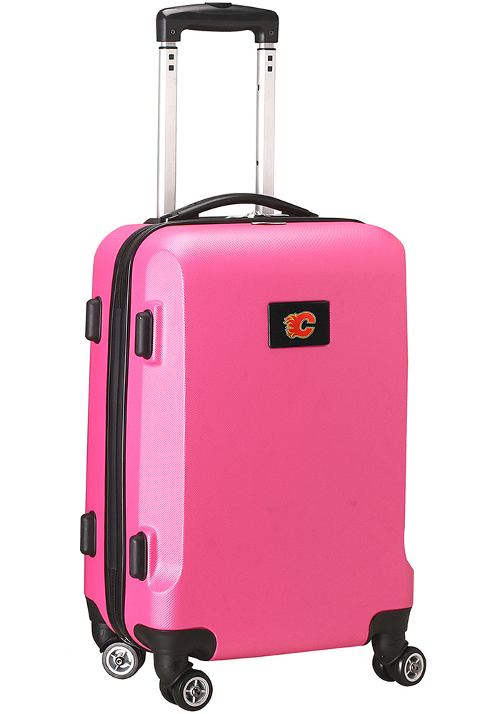Calgary Flames Pink 20g Hard Shell Carry On Luggage - Image 1