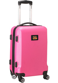 Cincinnati Bengals 20 Hard Shell Carry On Luggage - Pink