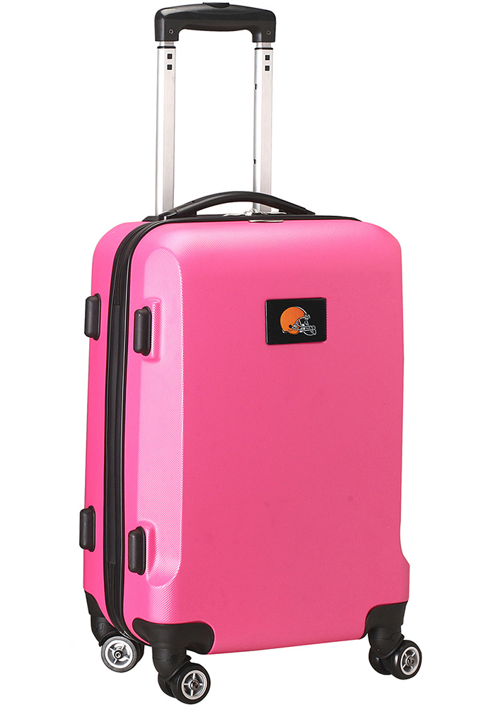 Cleveland Browns Pink 20g Hard Shell Carry On Luggage - Image 1
