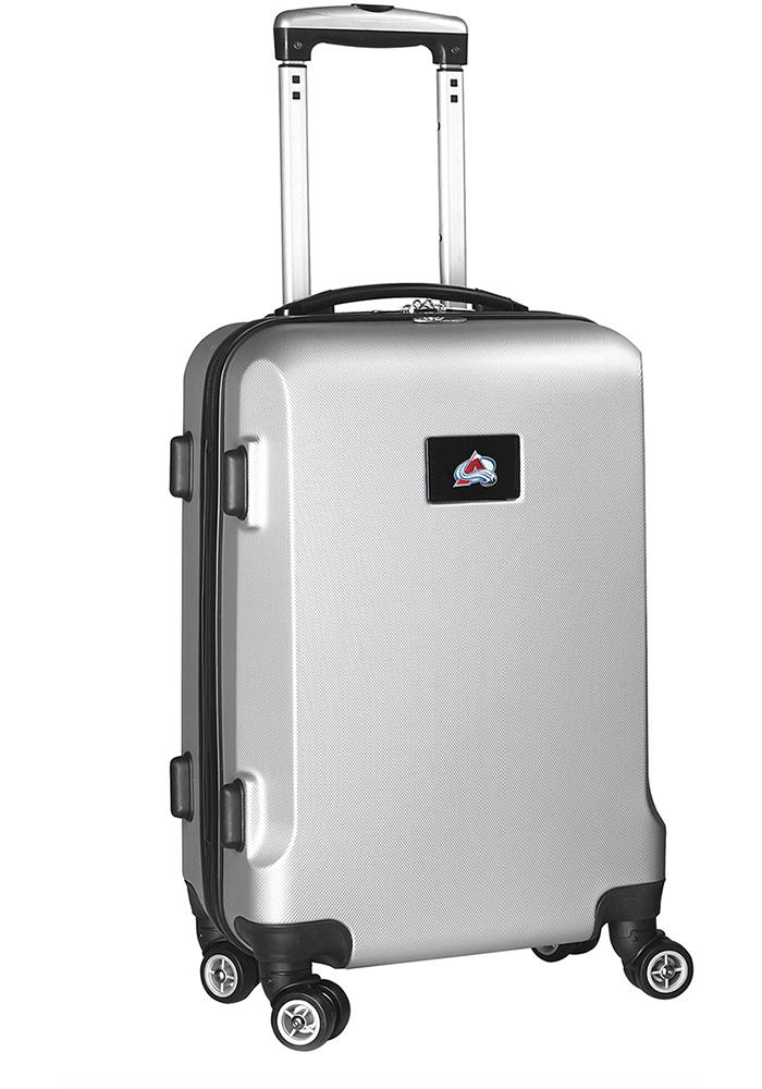 Colorado Avalanche Silver 20g Hard Shell Carry On Luggage - Image 1