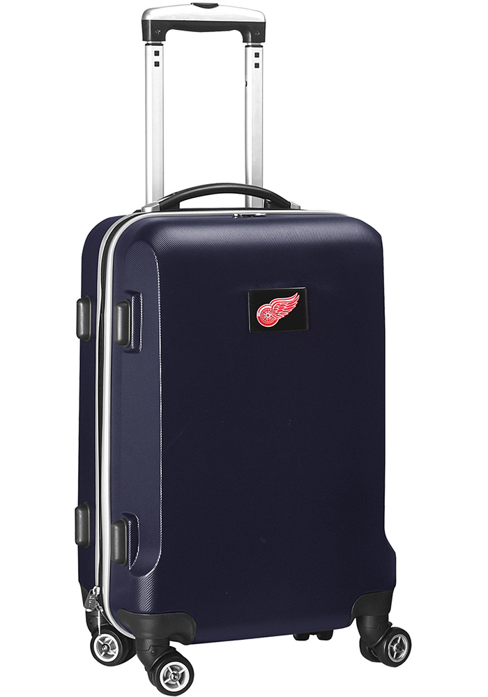 Detroit Red Wings Navy Blue 20 Hard Shell Carry On Luggage - Image 1
