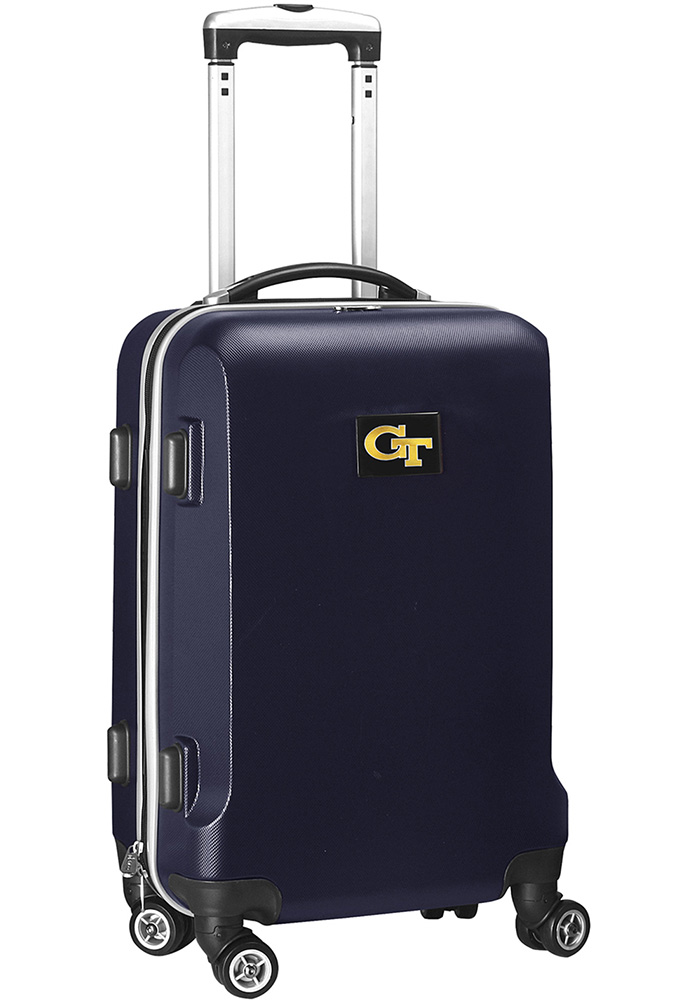 GA Tech Yellow Jackets 20 Hard Shell Carry On Luggage - Navy Blue