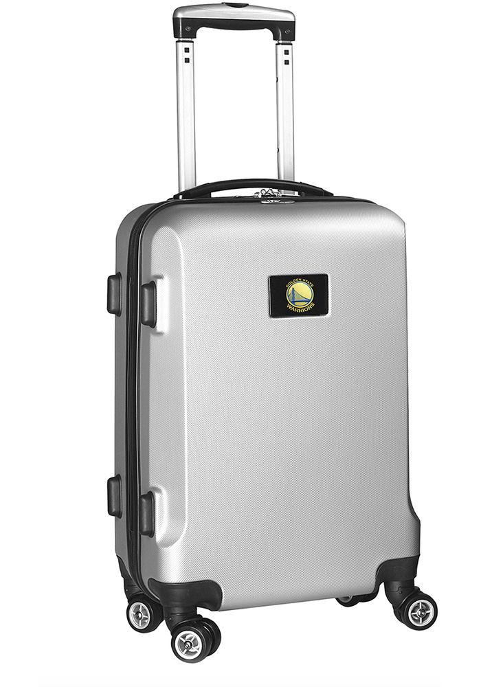 Golden State Warriors Silver 20g Hard Shell Carry On Luggage - Image 1