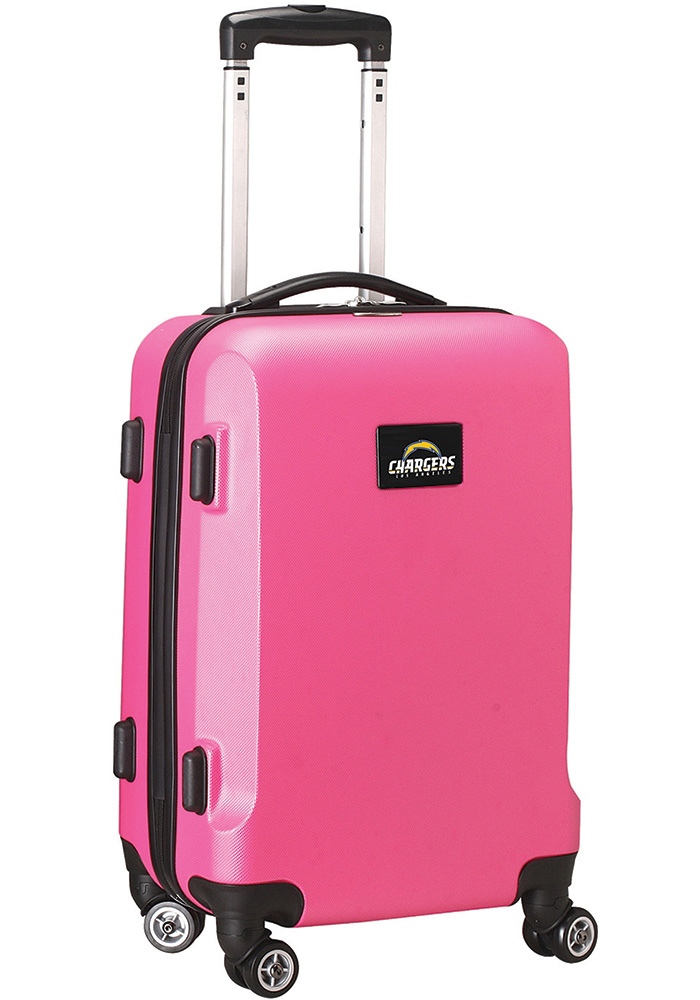 Los Angeles Chargers Pink 20 Hard Shell Carry On Luggage - Image 1