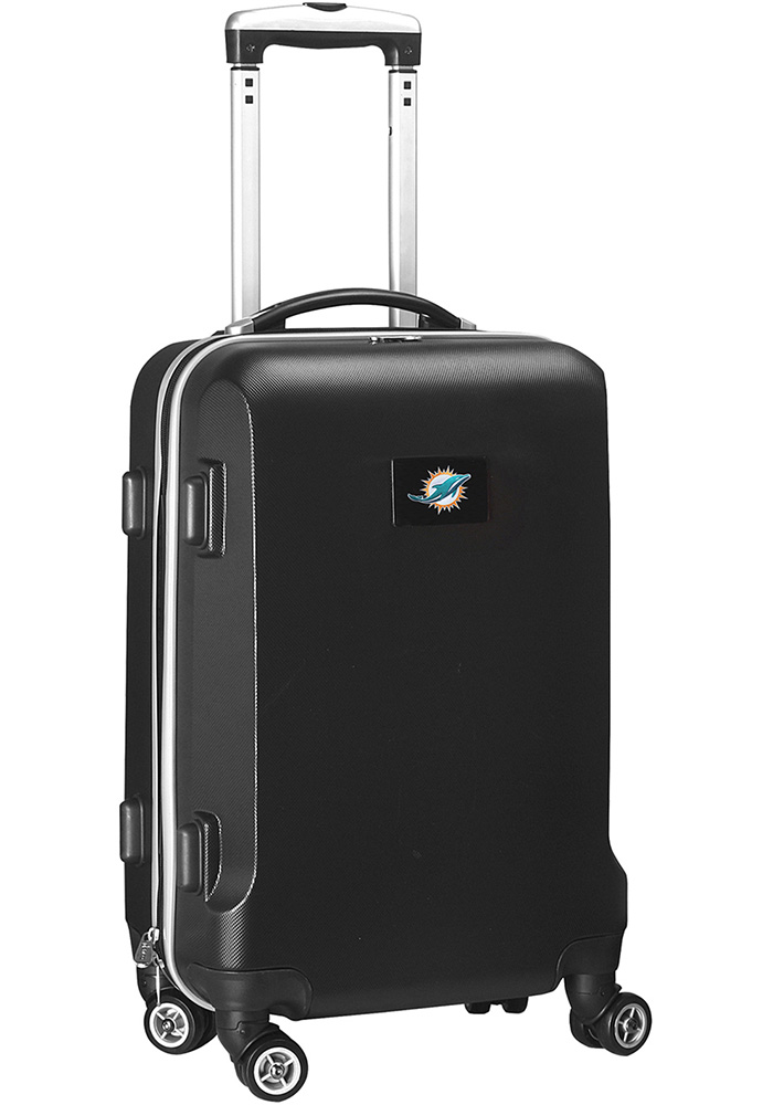 Miami Dolphins Black 20g Hard Shell Carry On Luggage - Image 1