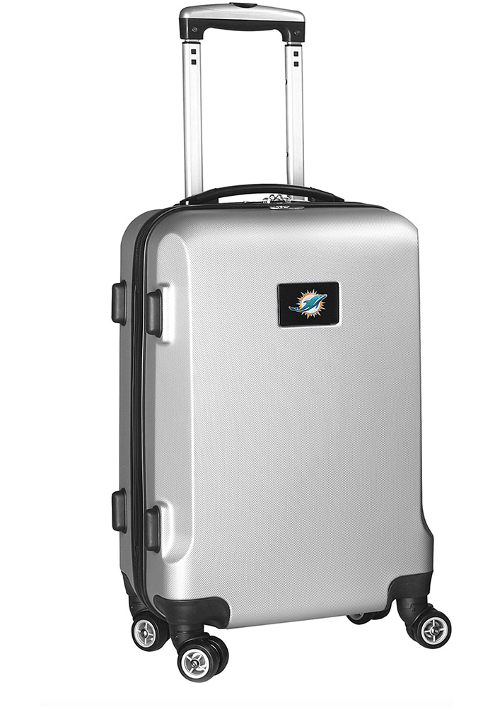 Miami Dolphins Silver 20g Hard Shell Carry On Luggage - Image 1