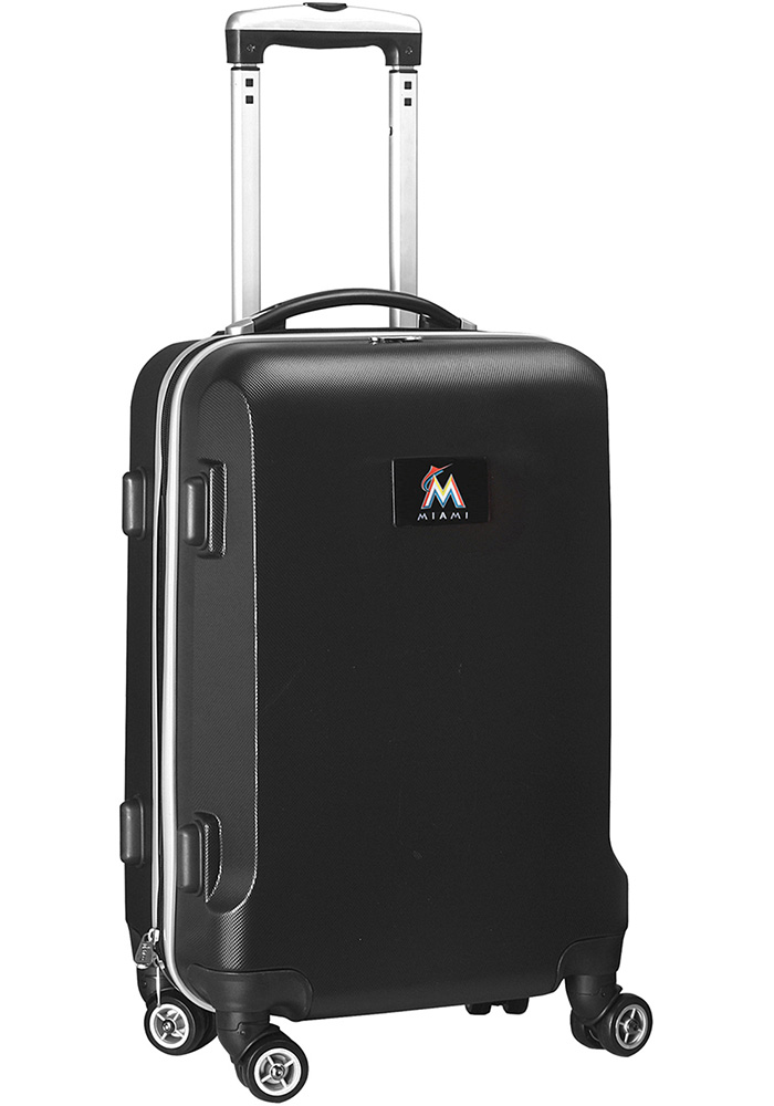 Miami Marlins Black 20g Hard Shell Carry On Luggage - Image 1