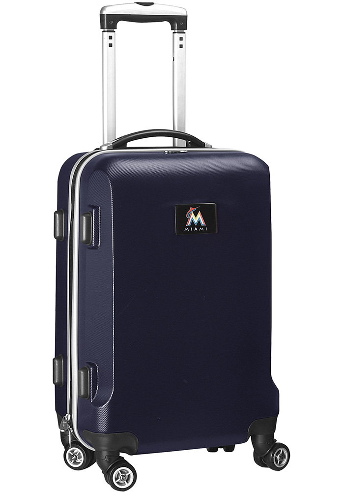 Miami Marlins Navy Blue 20 Hard Shell Carry On Luggage - Image 1