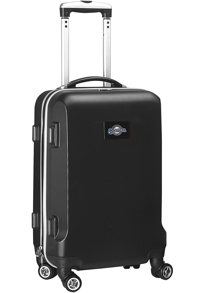 Milwaukee Brewers Black 20g Hard Shell Carry On Luggage - Image 1