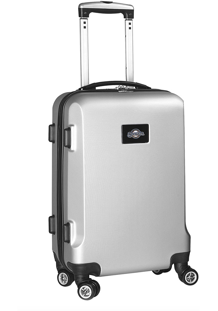 Milwaukee Brewers Silver 20g Hard Shell Carry On Luggage - Image 1