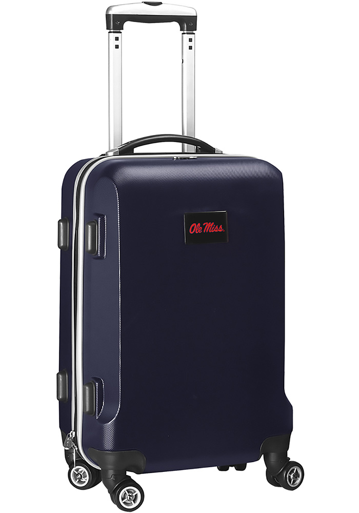 Ole Miss Rebels Navy Blue 20g Hard Shell Carry On Luggage - Image 1