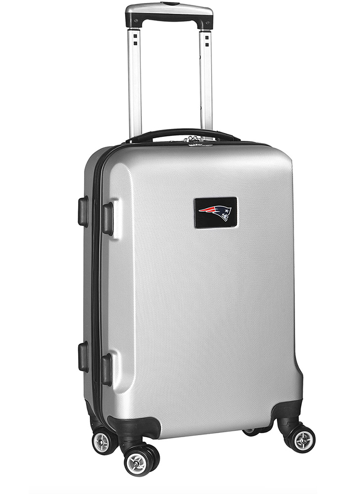 New England Patriots Silver 20g Hard Shell Carry On Luggage - Image 1