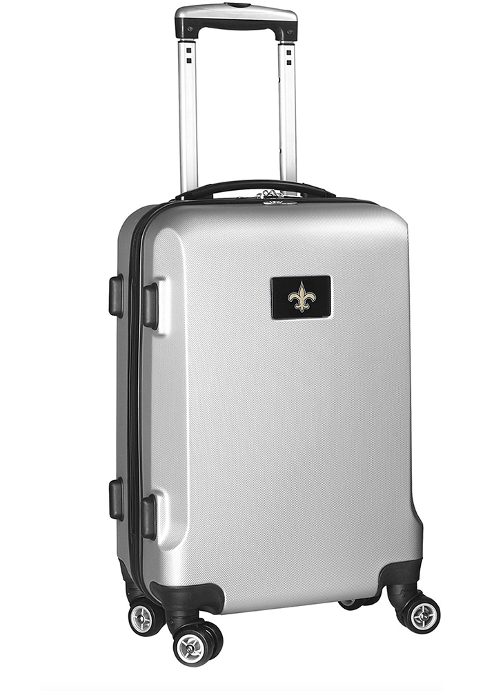 New Orleans Saints Silver 20g Hard Shell Carry On Luggage - Image 1