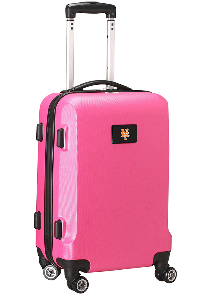 New York Mets Pink 20g Hard Shell Carry On Luggage - Image 1