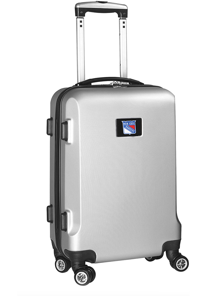New York Rangers Silver 20g Hard Shell Carry On Luggage - Image 1