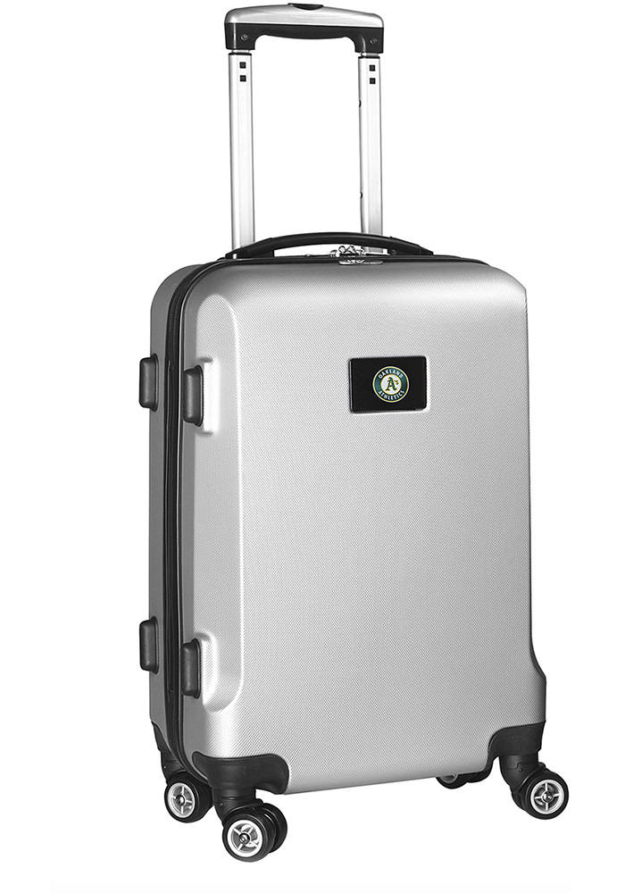 Oakland Athletics Silver 20g Hard Shell Carry On Luggage - Image 1