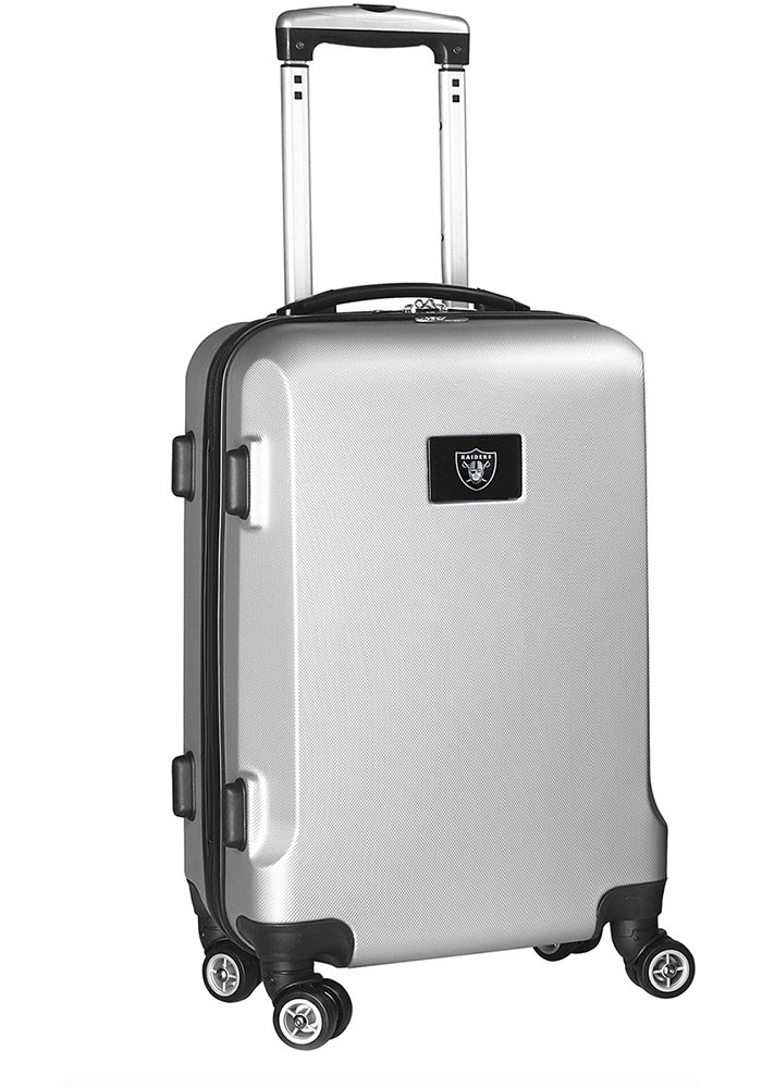 Oakland Raiders Silver 20g Hard Shell Carry On Luggage - Image 1