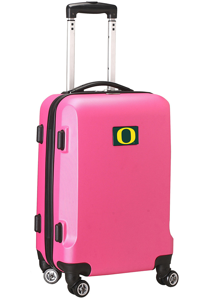 Oregon Ducks Pink 20g Hard Shell Carry On Luggage - Image 1