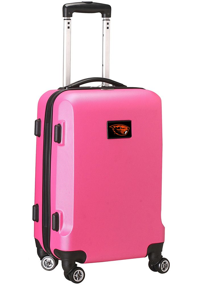Oregon State Beavers Pink 20g Hard Shell Carry On Luggage - Image 1