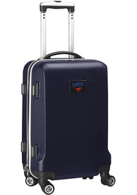 SMU Mustangs Navy Blue 20 Hard Shell Carry On Luggage
