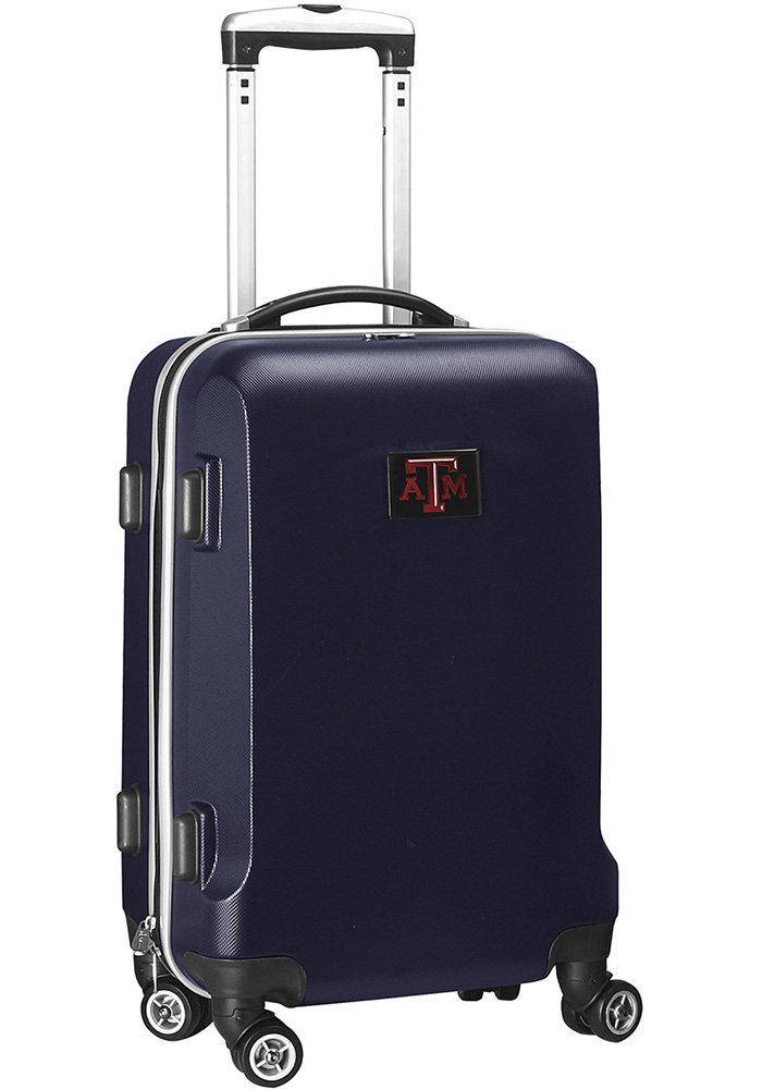 Texas A&M Aggies Navy Blue 20 Hard Shell Carry On Luggage - Image 1