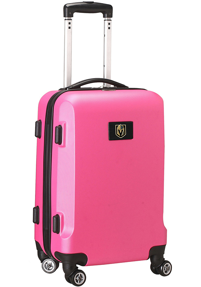 Vegas Golden Knights Pink 20 Hard Shell Carry On Luggage - Image 1