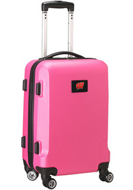 Wisconsin Badgers Pink 20 Hard Shell Carry On Luggage