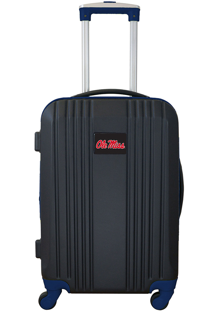 Ole Miss Rebels Navy Blue 21g Two Tone Luggage - Image 1