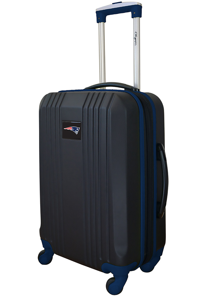New England Patriots Navy Blue 21g Two Tone Luggage - Image 1