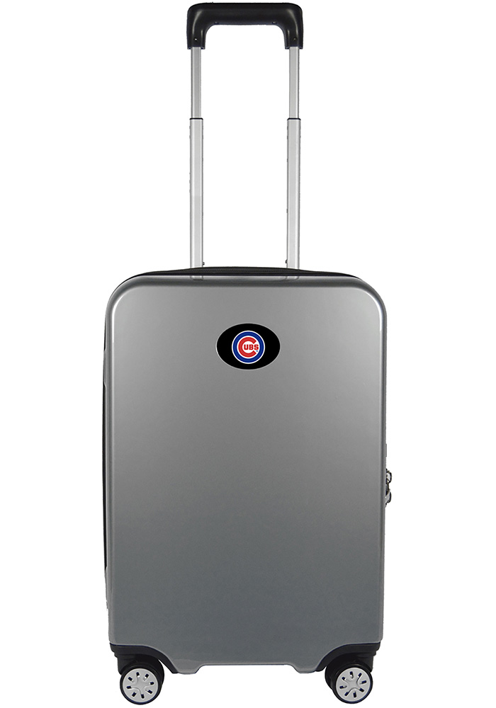 Chicago Cubs Silver 22g Hardcase Charging Port Luggage - Image 1