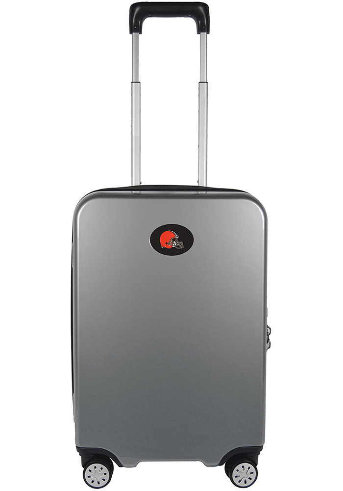 Cleveland Browns Silver 22g Hardcase Charging Port Luggage - Image 1